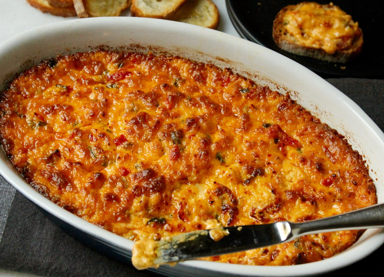 Warm Pimiento Cheese Dip When Thanksgiving